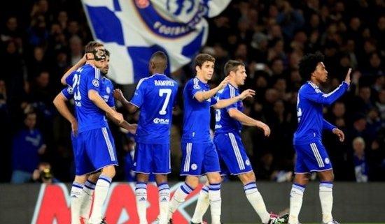 Comemoram os jogadores dos Blues (Foto: Chelsea FC)